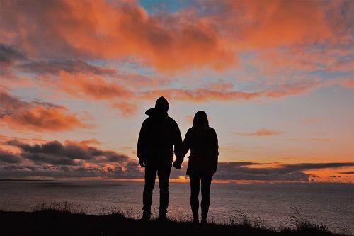 tramonto coppia