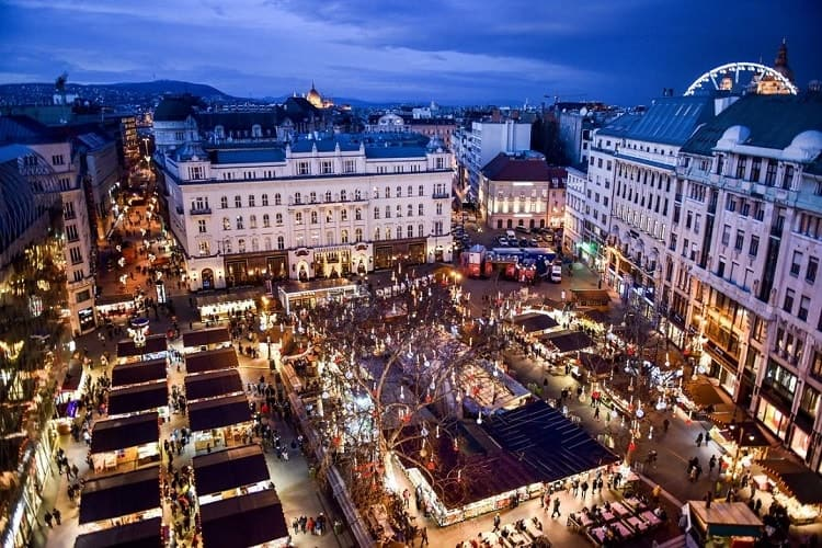 mercatini di natale di Budapest in Europa