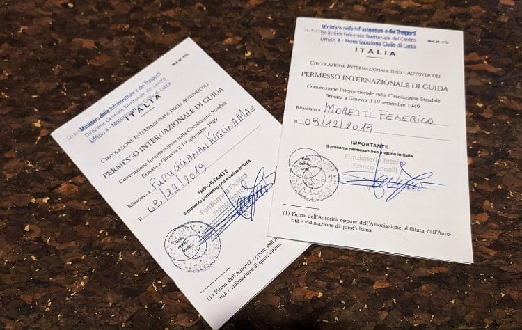 checklist di viaggio patente internazionale
